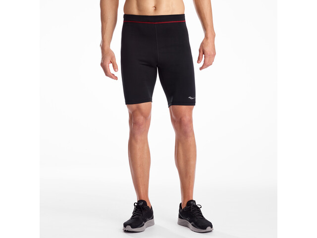 saucony Bell Lap Shorts Heren, black